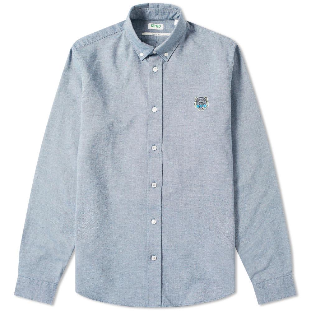 0ac90b82b Kenzo Tiger Logo Button Down Oxford Shirt Navy   END.