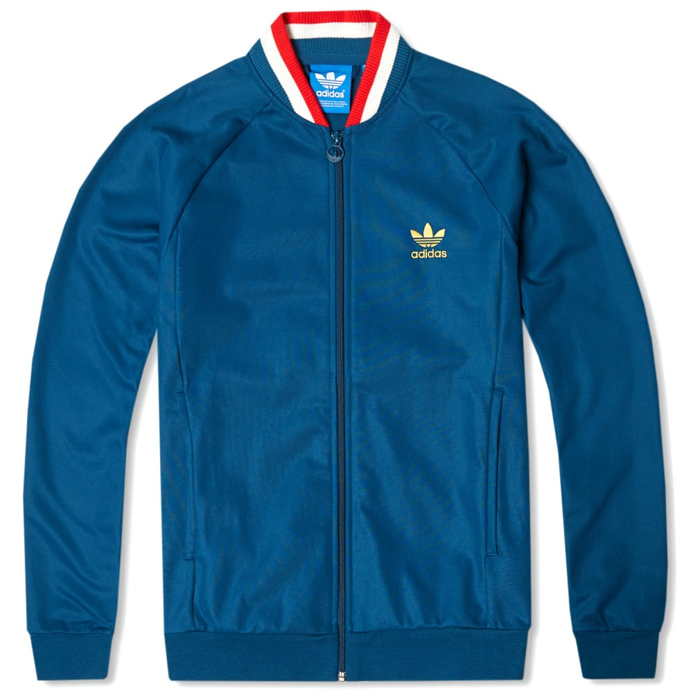 adidas england retro track top tribe blue. Black Bedroom Furniture Sets. Home Design Ideas