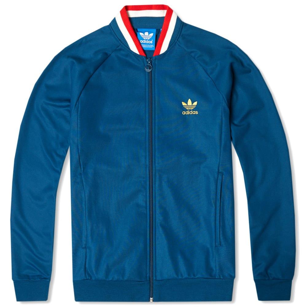 Adidas England Retro Track Top (Tribe Blue)