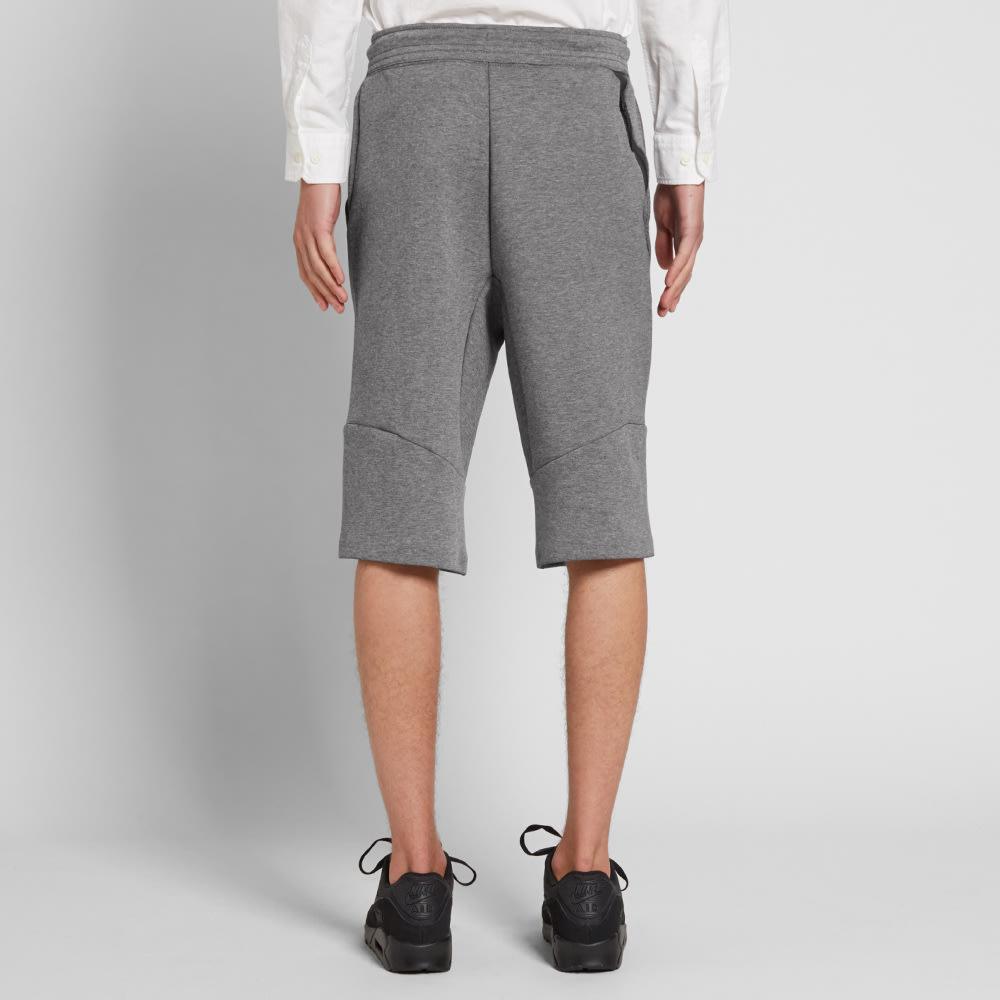 c7f936037fe9 Nike Tech Fleece Short 2.0 Carbon Heather   Obsidian