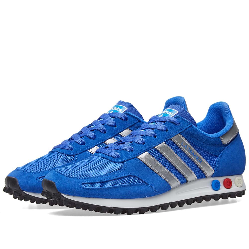 Elástico espina Especialmente  Adidas LA Trainer Blue & Metallic Silver | END.