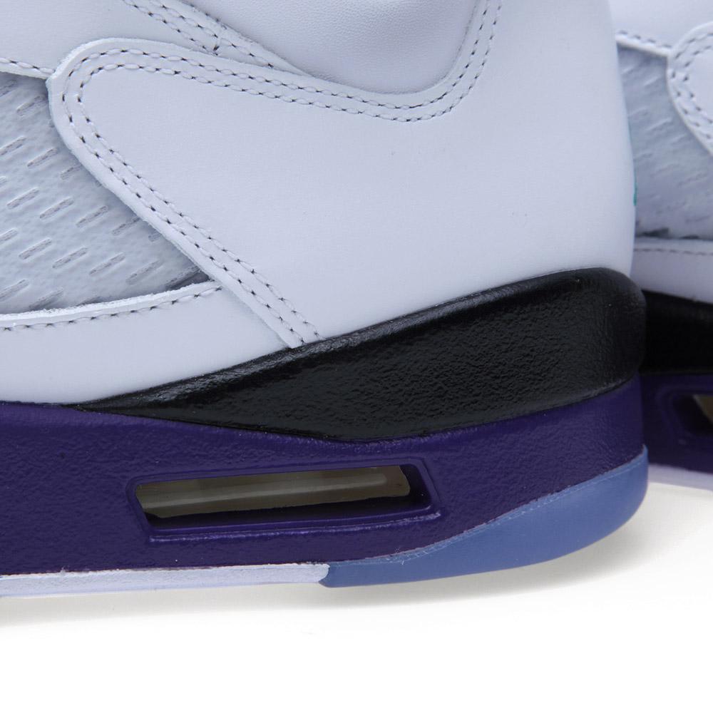 c8b328faf17f14 Nike Air Jordan V Retro  Grape  White