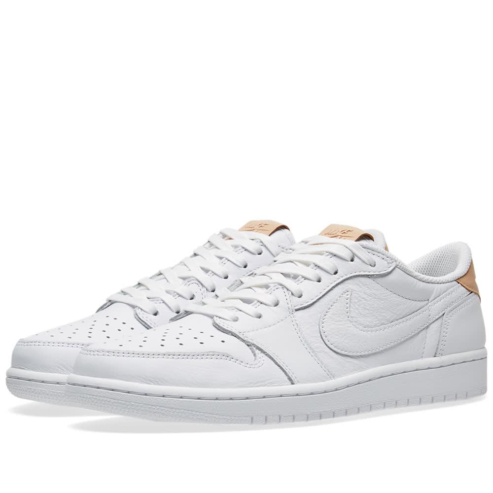 2b0554ccdc1b Nike Air Jordan 1 Retro Low OG Premium White   Vachetta Tan