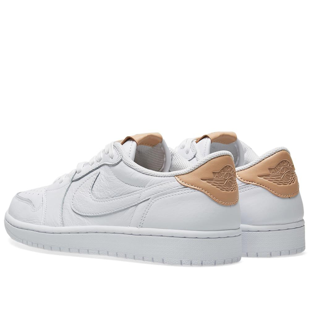 b111859bb8b3 Nike Air Jordan 1 Retro Low OG Premium White   Vachetta Tan