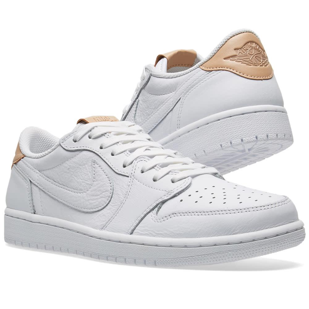 731ee6fac239 Nike Air Jordan 1 Retro Low OG Premium White   Vachetta Tan