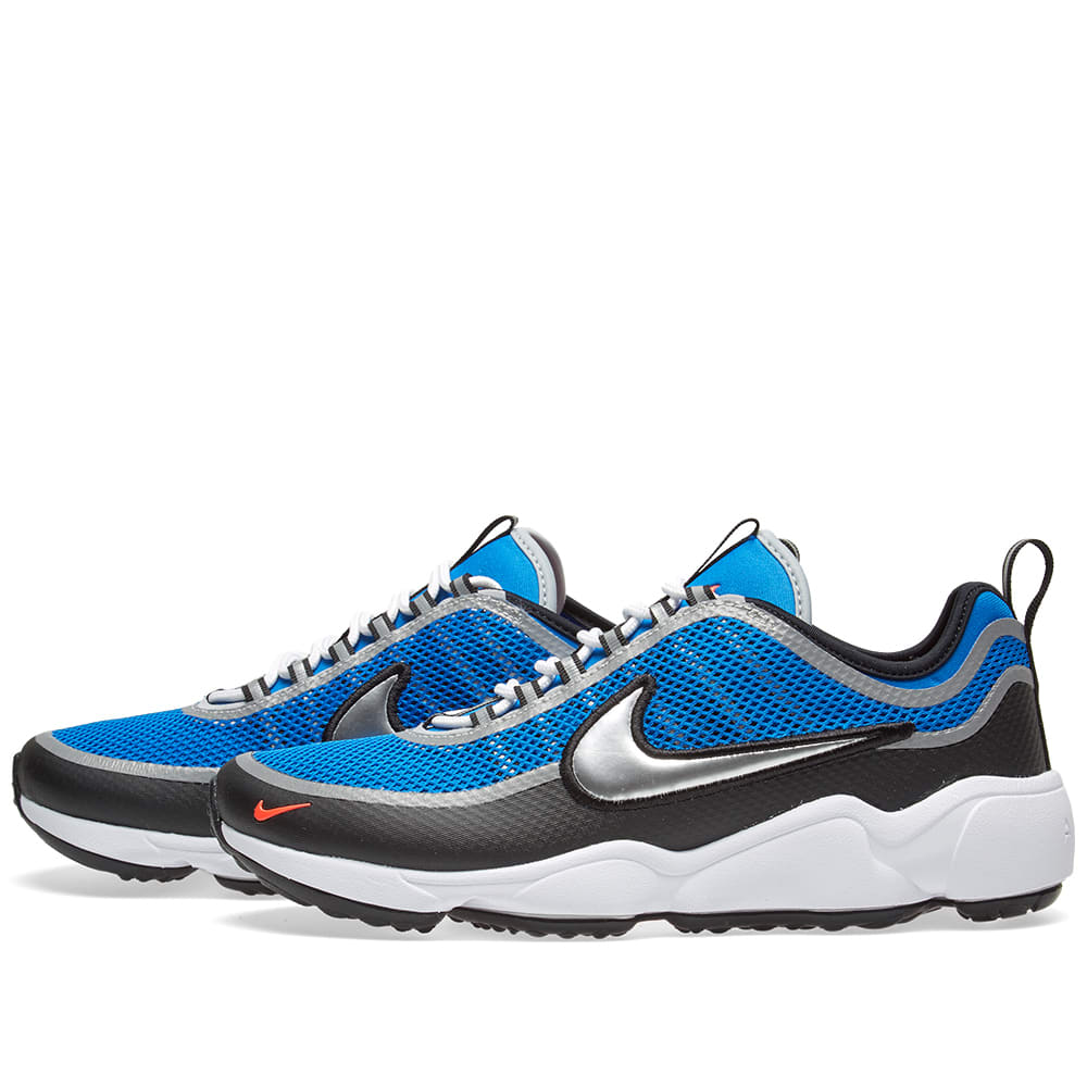 nike air zoom spiridon regal blue metallic silver. Black Bedroom Furniture Sets. Home Design Ideas