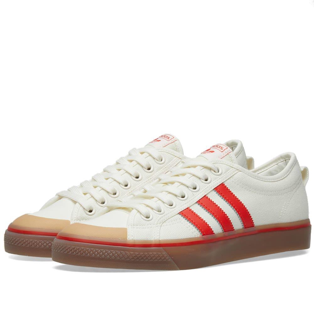 desesperación cache Monje  Adidas Nizza Off White & Core Red | END.