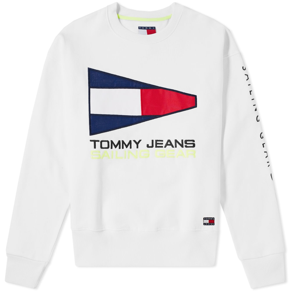 8db94bad Tommy Jeans 5.0 90s Sailing Logo Crew Sweat Bright White | END.