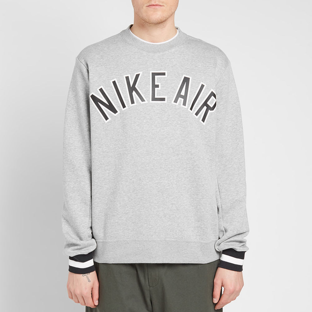 a4d64055 Nike Air Fleece Crew Sweat Dark Grey Heather & Black | END.