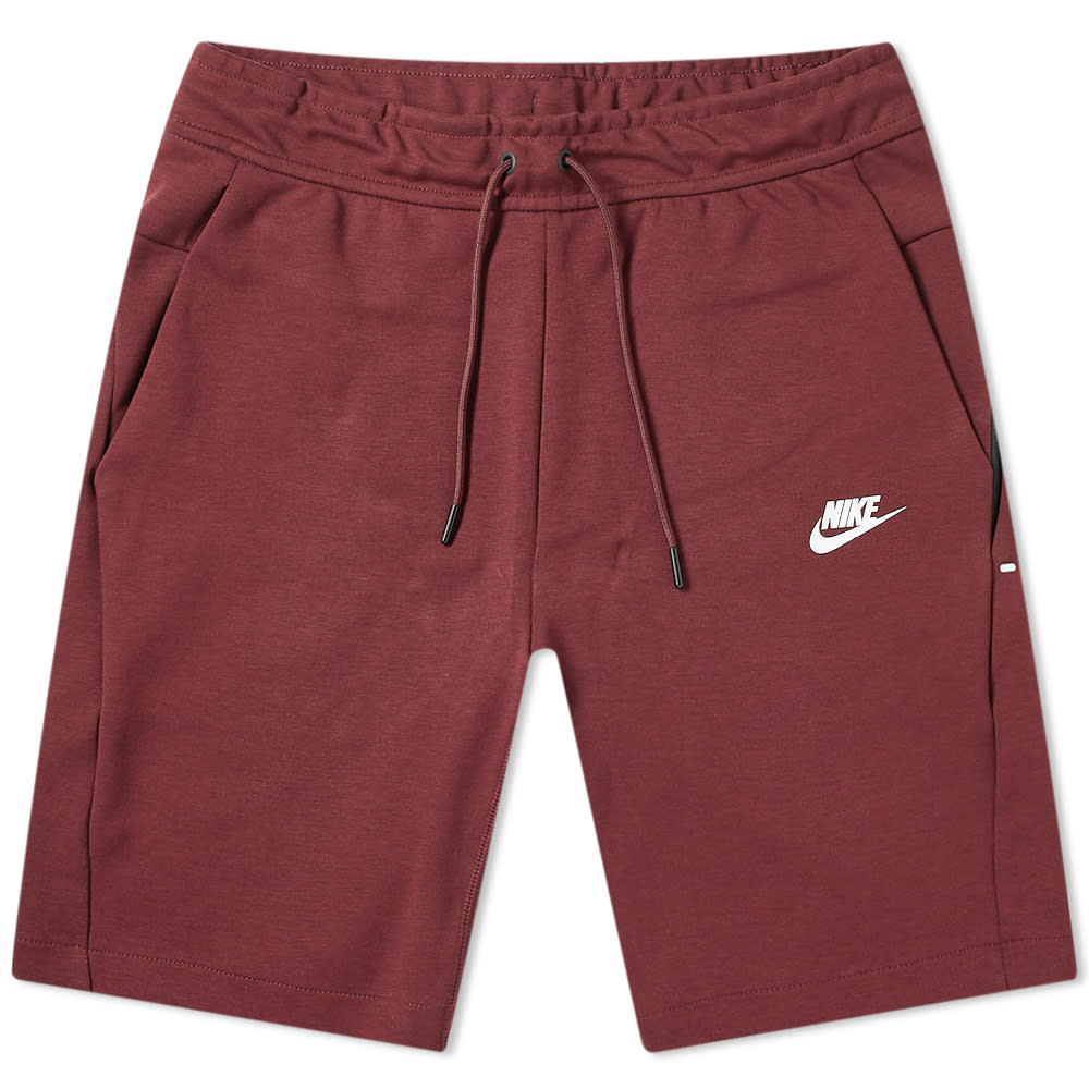 buy popular ec0df 3483a Nike Tech Fleece Short Night Maroon   White   END.