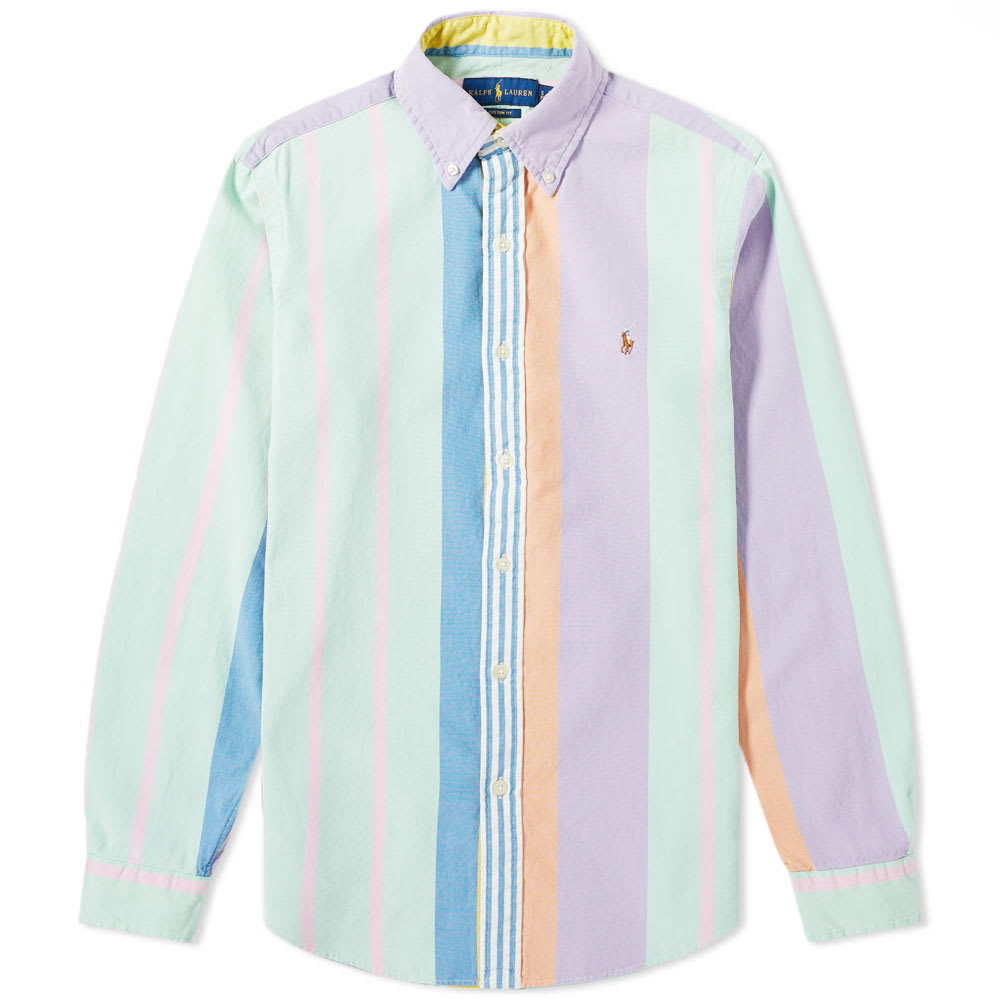 fbb5bf70b Polo Ralph Lauren Multi Stripe Oxford Shirt Pastel Multi