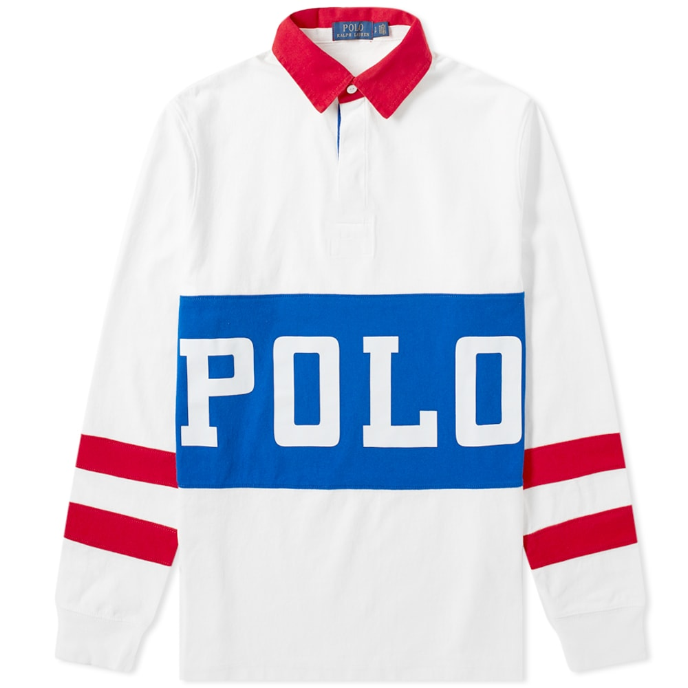Track Lauren Printed Ralph Polo Rugby Shirt 92IHEWDY