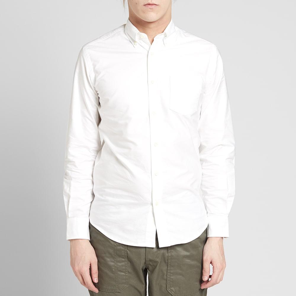 Tripl stitched button down oxford shirt white for White button down oxford shirt