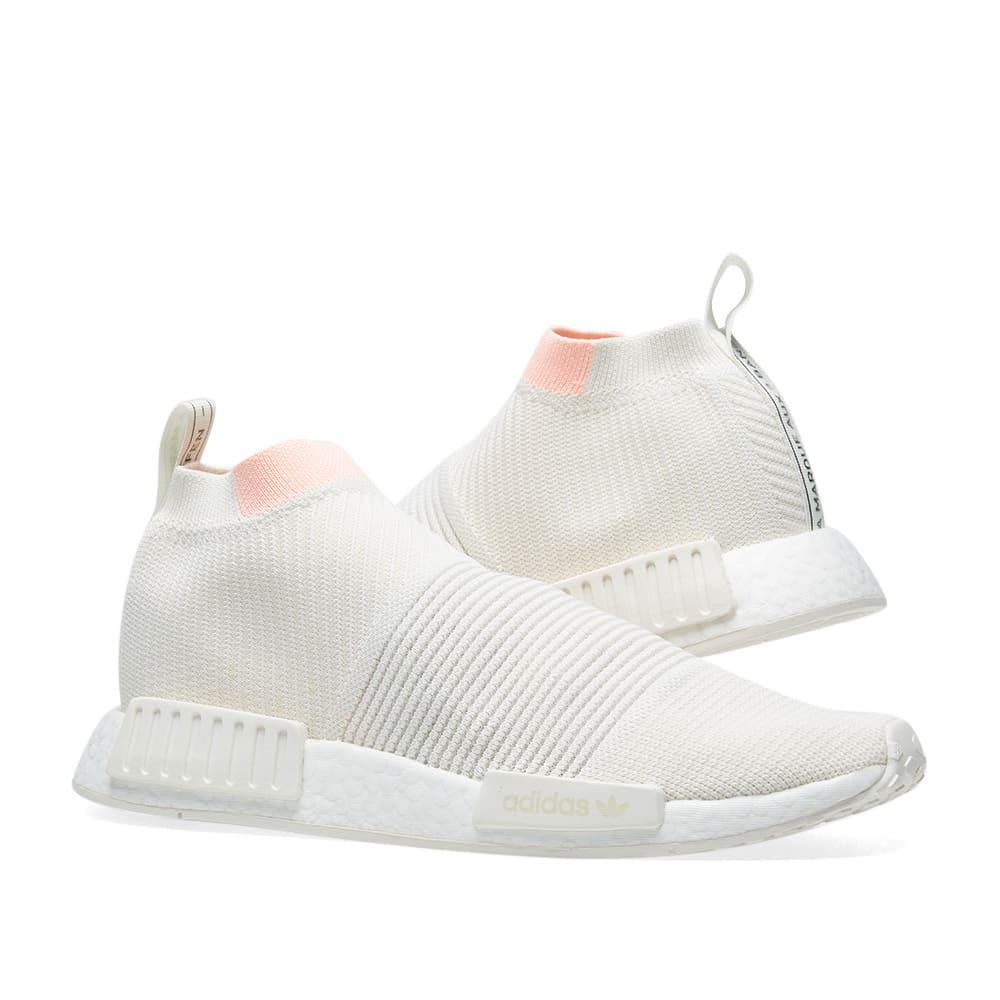 Adidas NMD_CS1 PK W (Cloud White & Clear Orange) | AQ1136