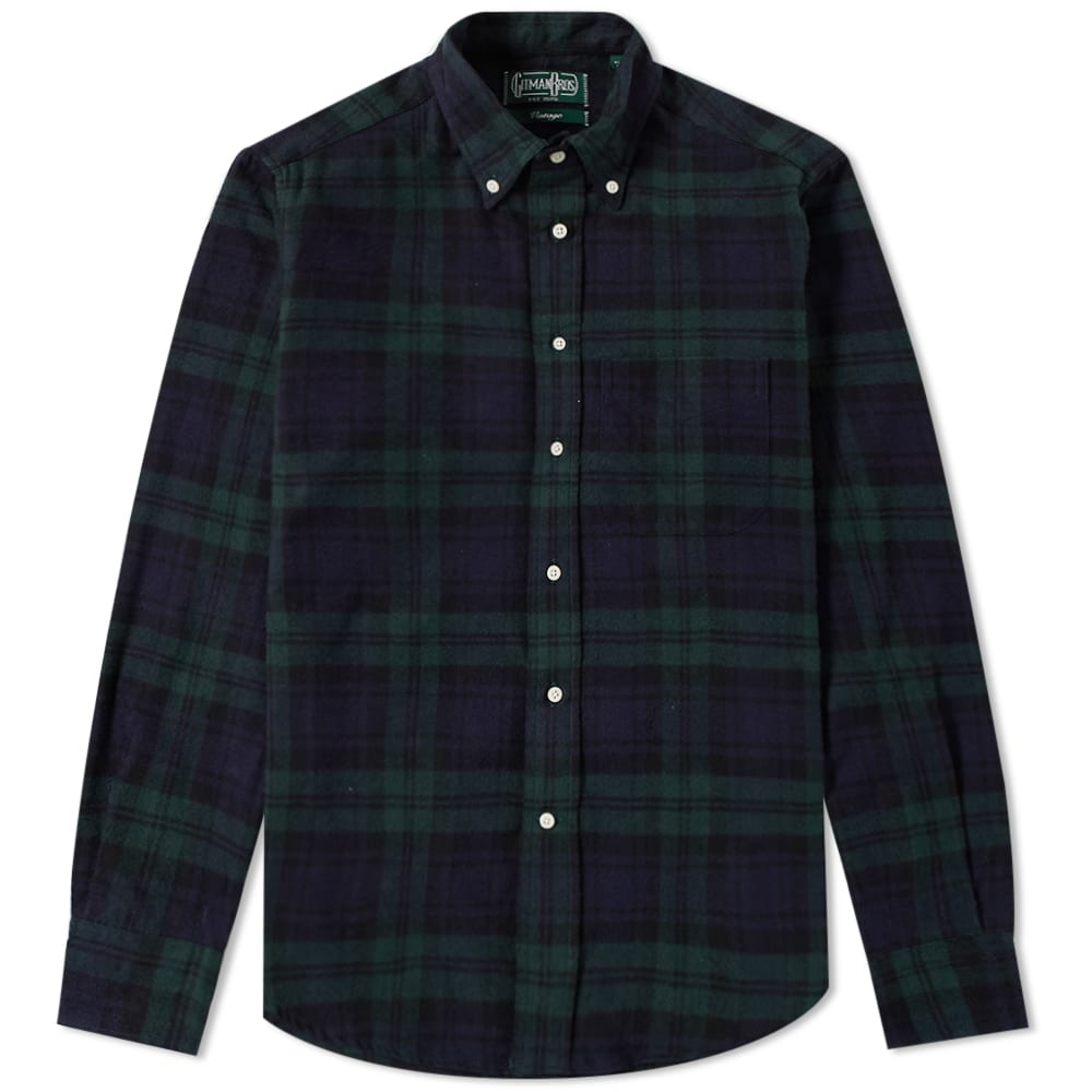 GITMAN VINTAGE PLAID FLANNEL SHIRT