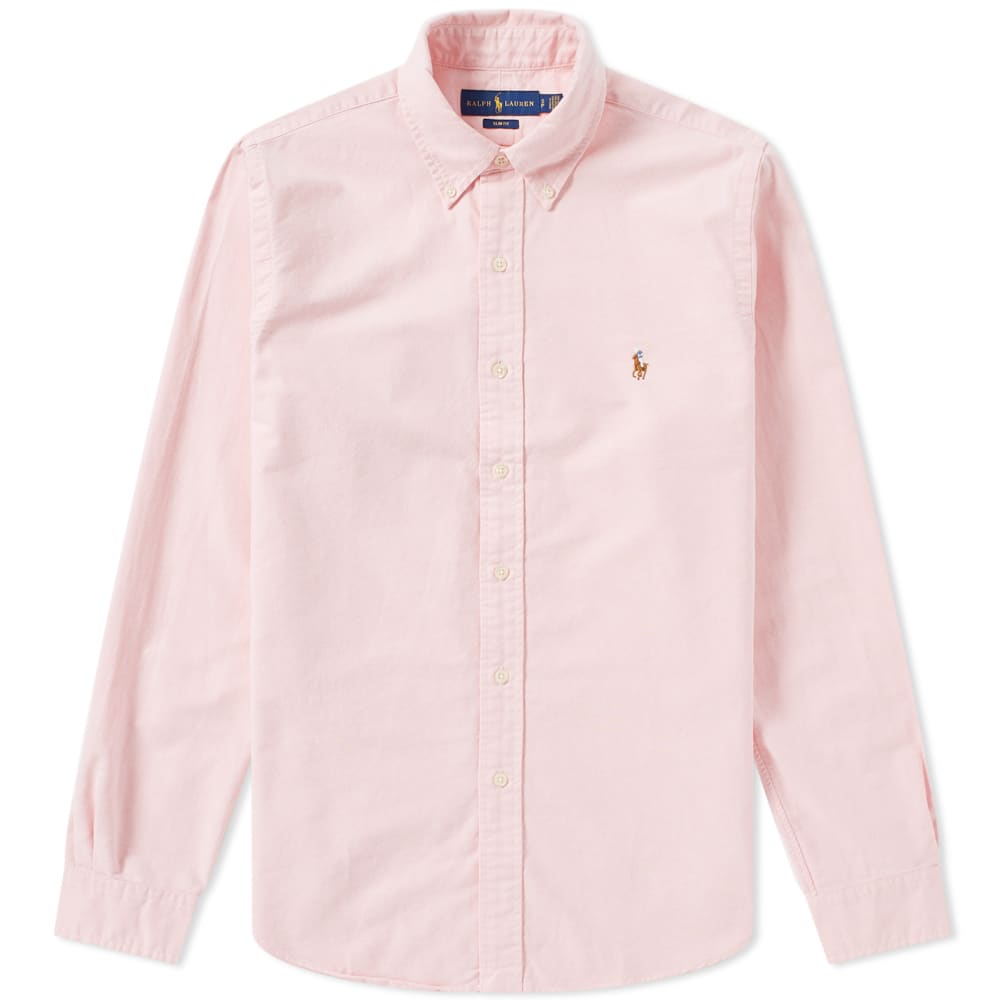 03d37f8e Polo Ralph Lauren Slim Fit Button Down Oxford Shirt Pink   END.