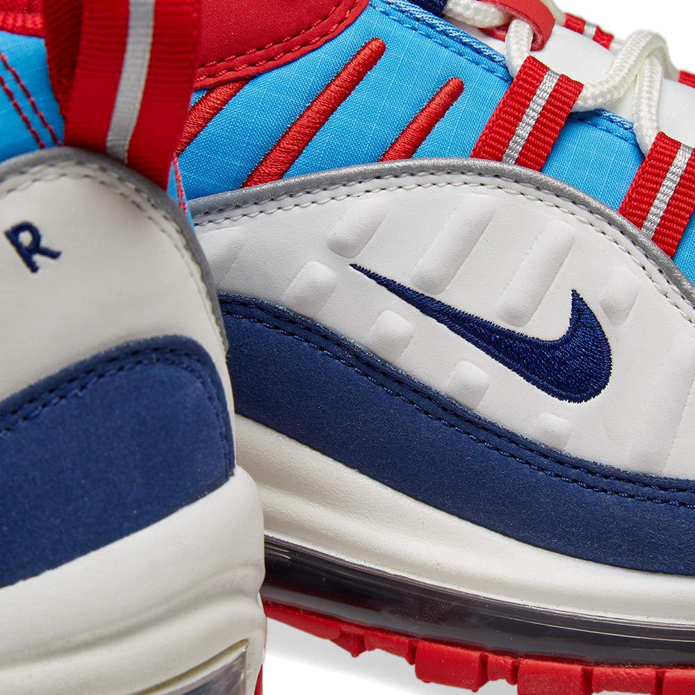 d68ea0093e930 Nike Air Max 98 W White, Blue, Red & Silver | END.