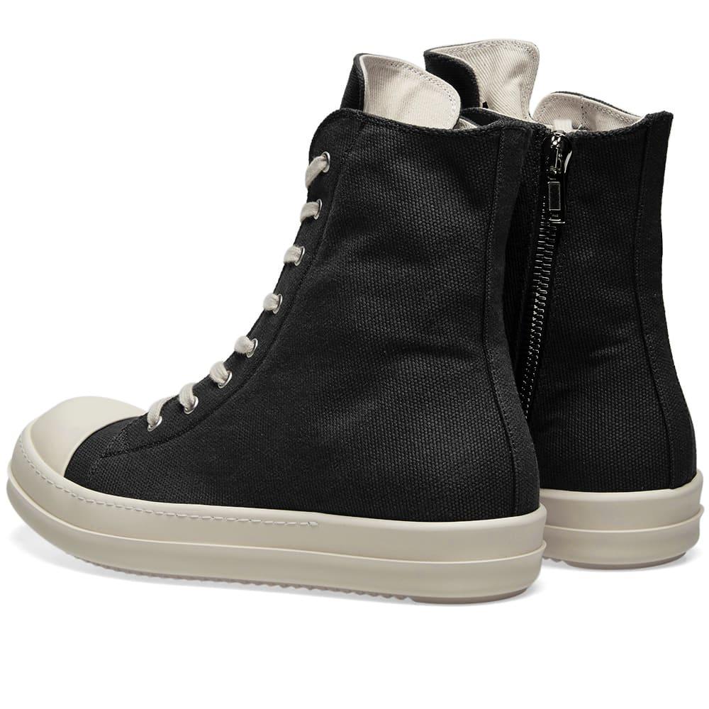 Rick Owens DRKSHDW Logo High Top Sneaker Black & White | END.