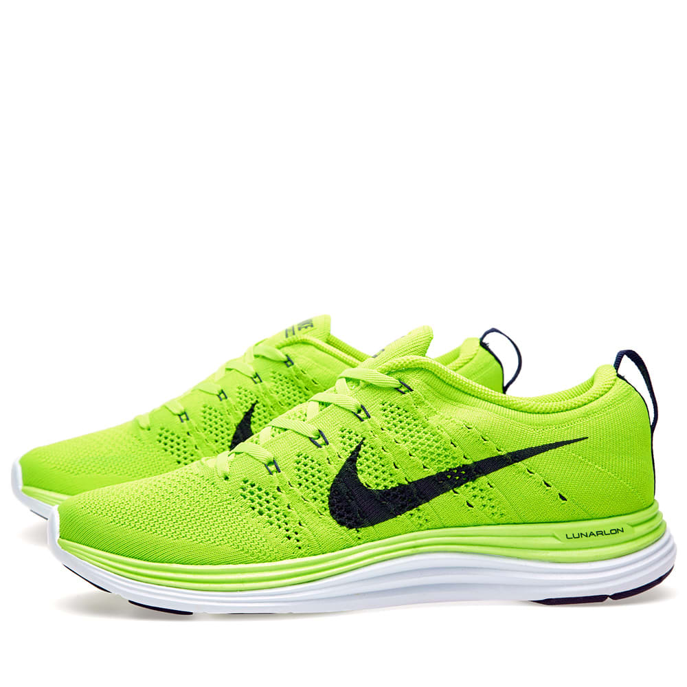 best service f763d 007df Nike Flyknit Lunar 1+ Electric Green   Dark Obsidian   END.