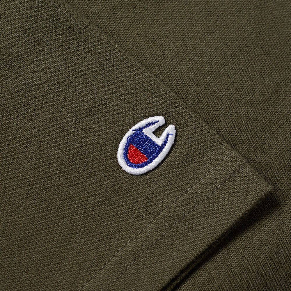 champion reverse weave army tee olive. Black Bedroom Furniture Sets. Home Design Ideas