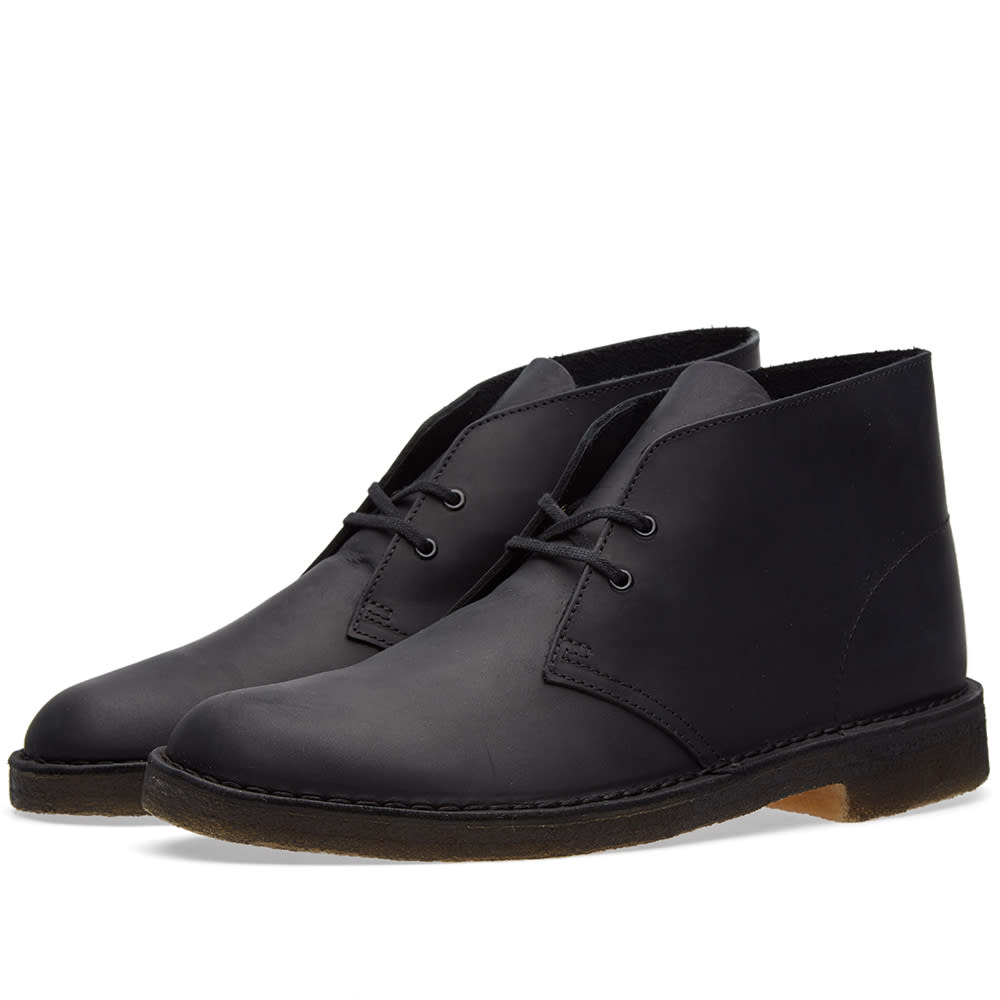 clarks originals desert boot black beeswax leather. Black Bedroom Furniture Sets. Home Design Ideas