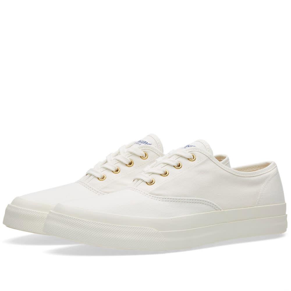 Maison Kitsuné Canvas Sneaker White   END.
