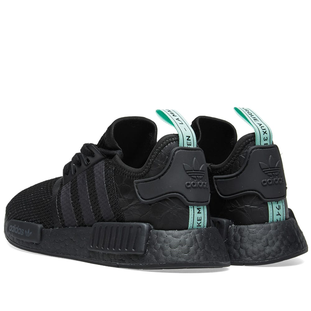 6dc58044aef84 Adidas NMD R1 W Core Black   Clear Mint