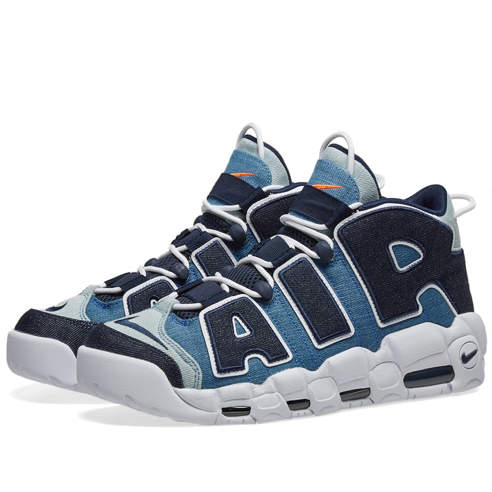 Nike Air More Uptempo 96 White Obsidian Amp Total Orange