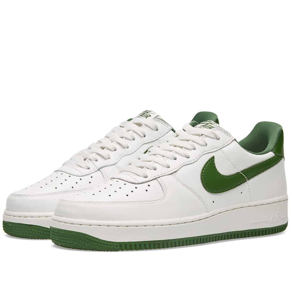 new concept f3404 beefd Nike Air Force 1 Low Retro Summit White   Forest Green   END.