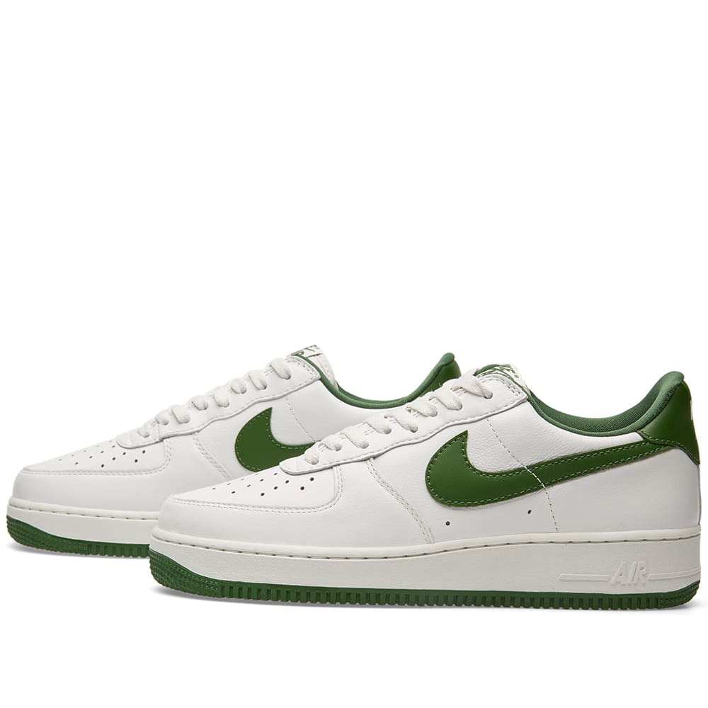 nike air force 1 low retro summit white forest green. Black Bedroom Furniture Sets. Home Design Ideas