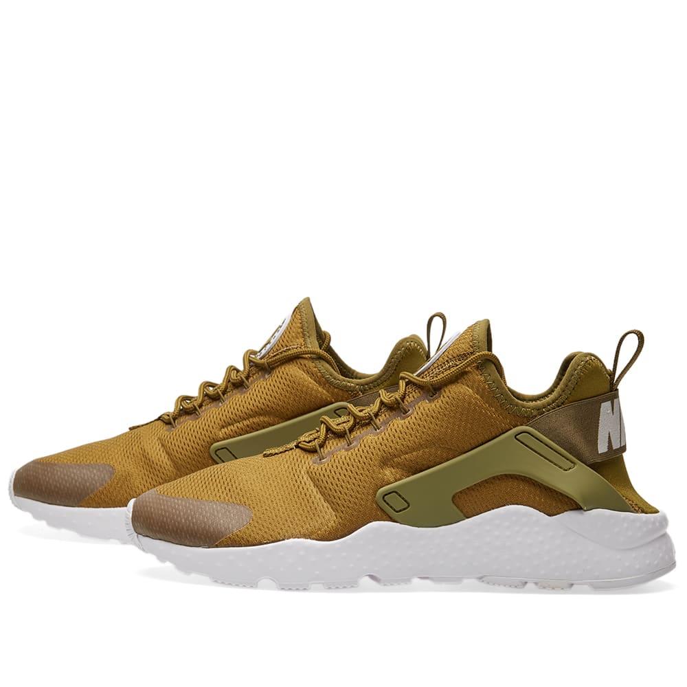 aeeb22bb7b898 Nike W Huarache Run Ultra Olive Flak   White