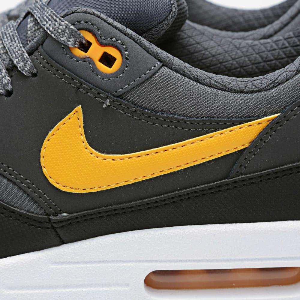 newest f08aa 1efa0 Nike Air Max 1 Essential Dark Grey   Laser Orange   END.