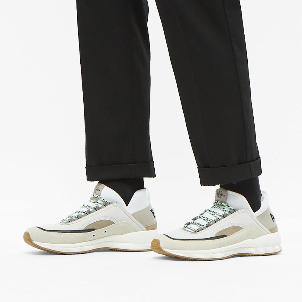 x A.P.C. Run Around Sneaker Bordeaux