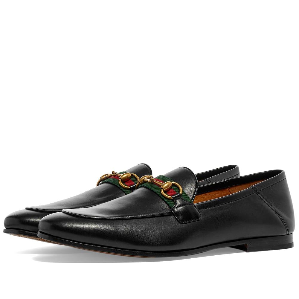Gucci Brixton Bit Web Loafer Black | END.