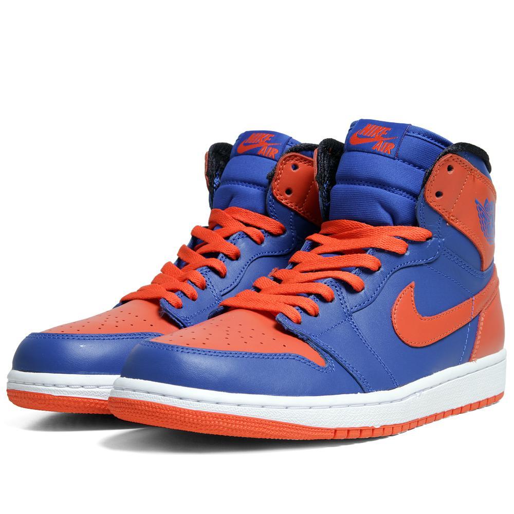 0aa407ef5dd5ec Nike Air Jordan I Retro High OG  Knicks  Game Royal   Team Orange