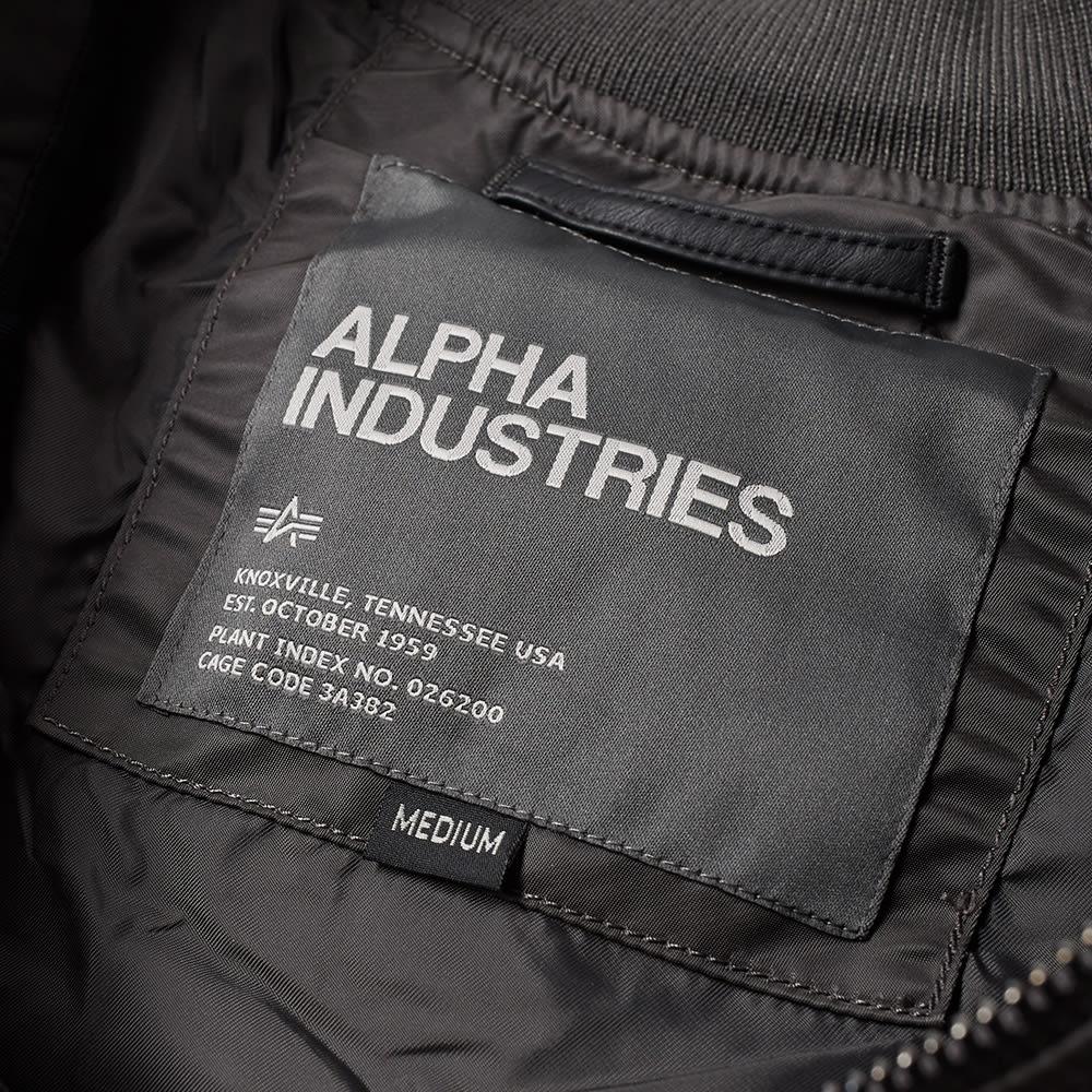 2fa1e7da00a53 Alpha Industries MA-1 VF LW Bomber Jacket Grey Black   Shiny Black ...