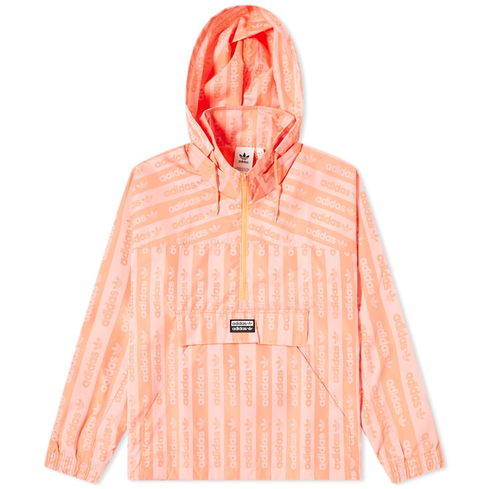 Adidas Logo Print Track Top Coral Pink End