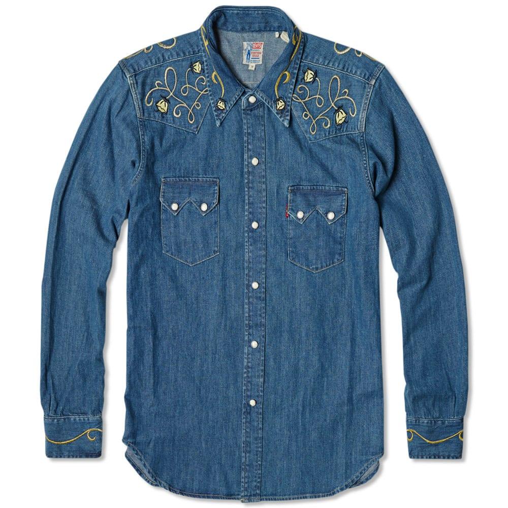 b8a6bd97c5e3 Levi's Vintage 1955 Sawtooth Denim Shirt Parsons   END.