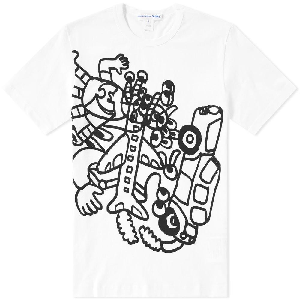 c8b1f0b20ae5 Comme des Garcons SHIRT Noah Lyon Sketch Tee White