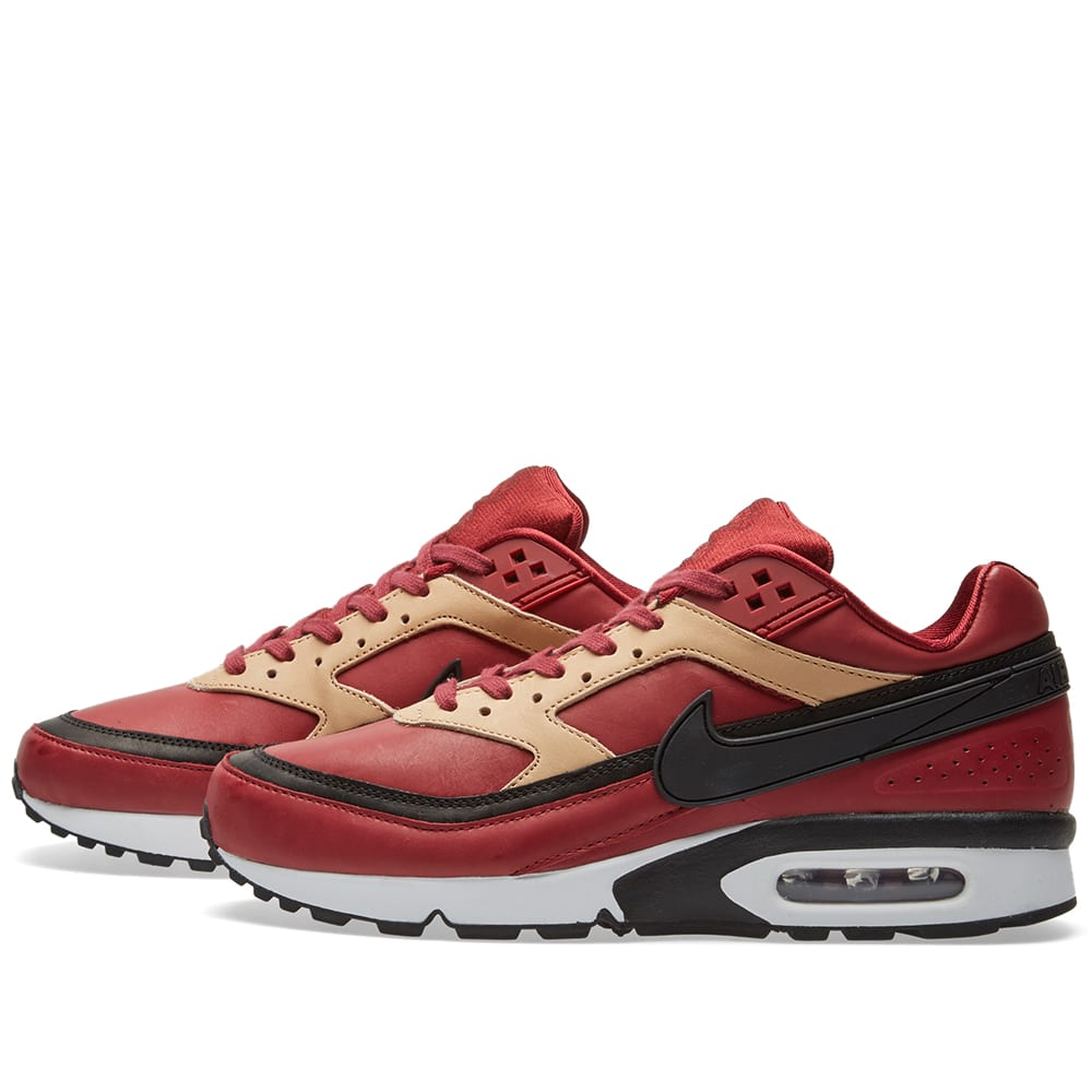 85223d2f9176 Nike Air Max BW Premium Team Red, Black & Vachetta Tan | END.