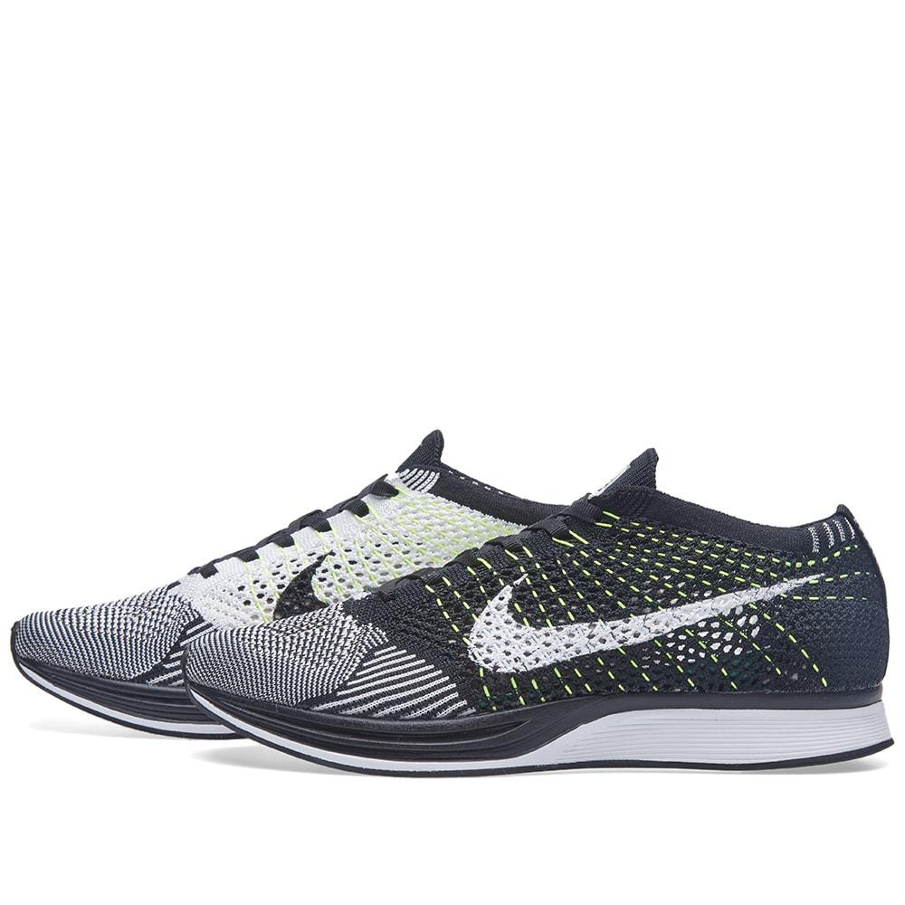 buy popular f6679 491d6 Nike Flyknit Racer Black   White   END.