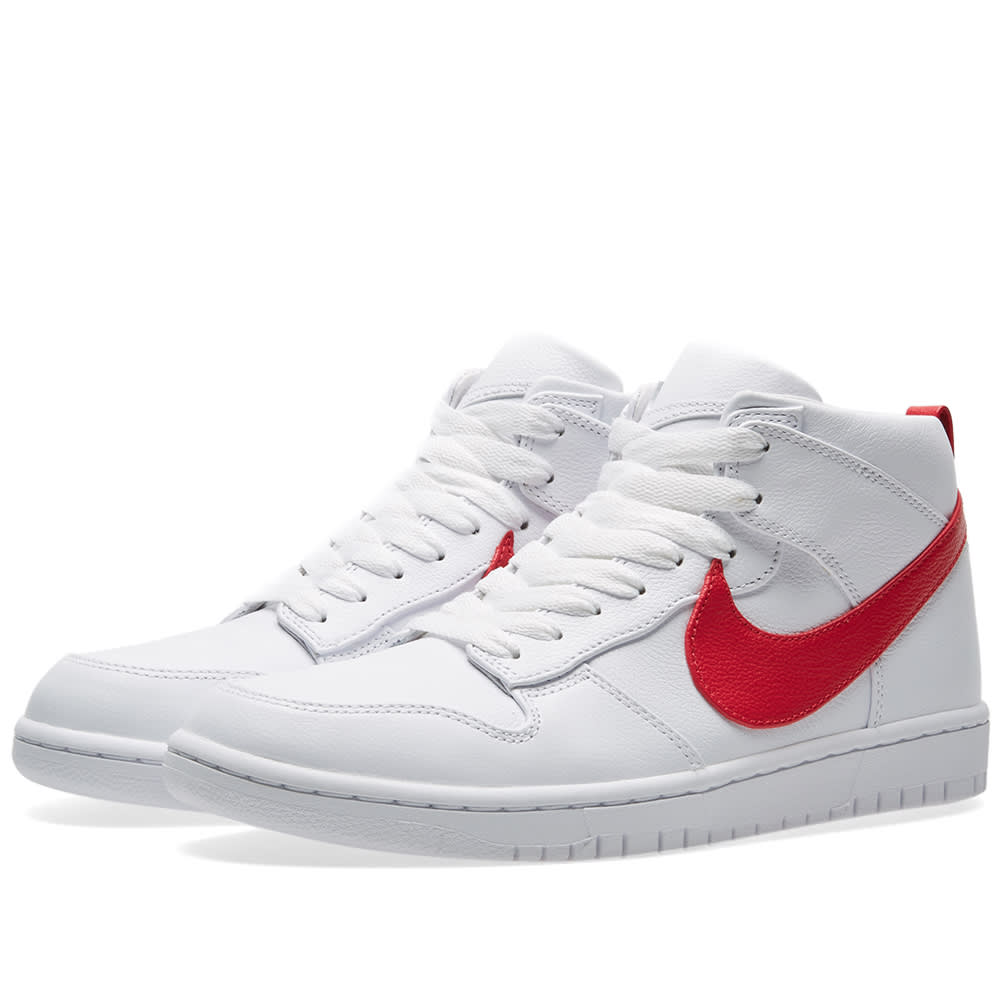 best loved 492a7 8fecb Nike x Riccardo Tisci Dunk Lux Chukka White   Distance Red   END.