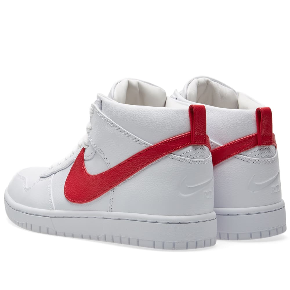 best loved eaaef a16be Nike x Riccardo Tisci Dunk Lux Chukka White   Distance Red   END.