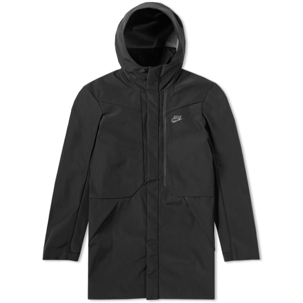 f1c7503ee2d0 Nike Tech Fleece Hooded Shield Jacket Black