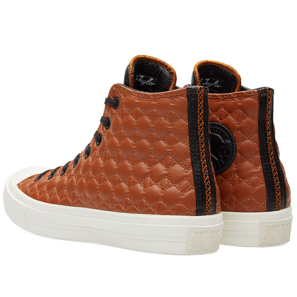 5ed5cfeca452 Converse Chuck Taylor II Hi Leather Brown   White