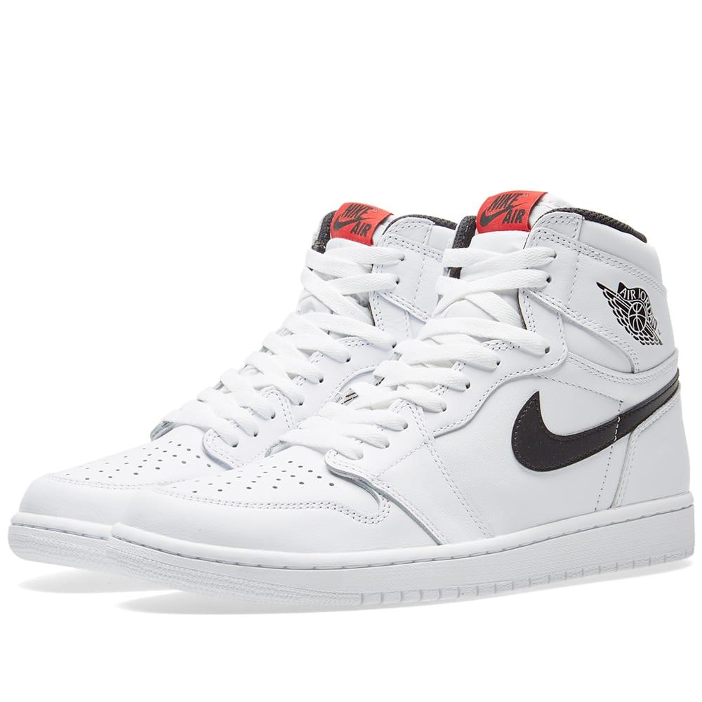 purchase cheap b509d 7a430 Nike Air Jordan 1 Retro High OG White   Black   END.