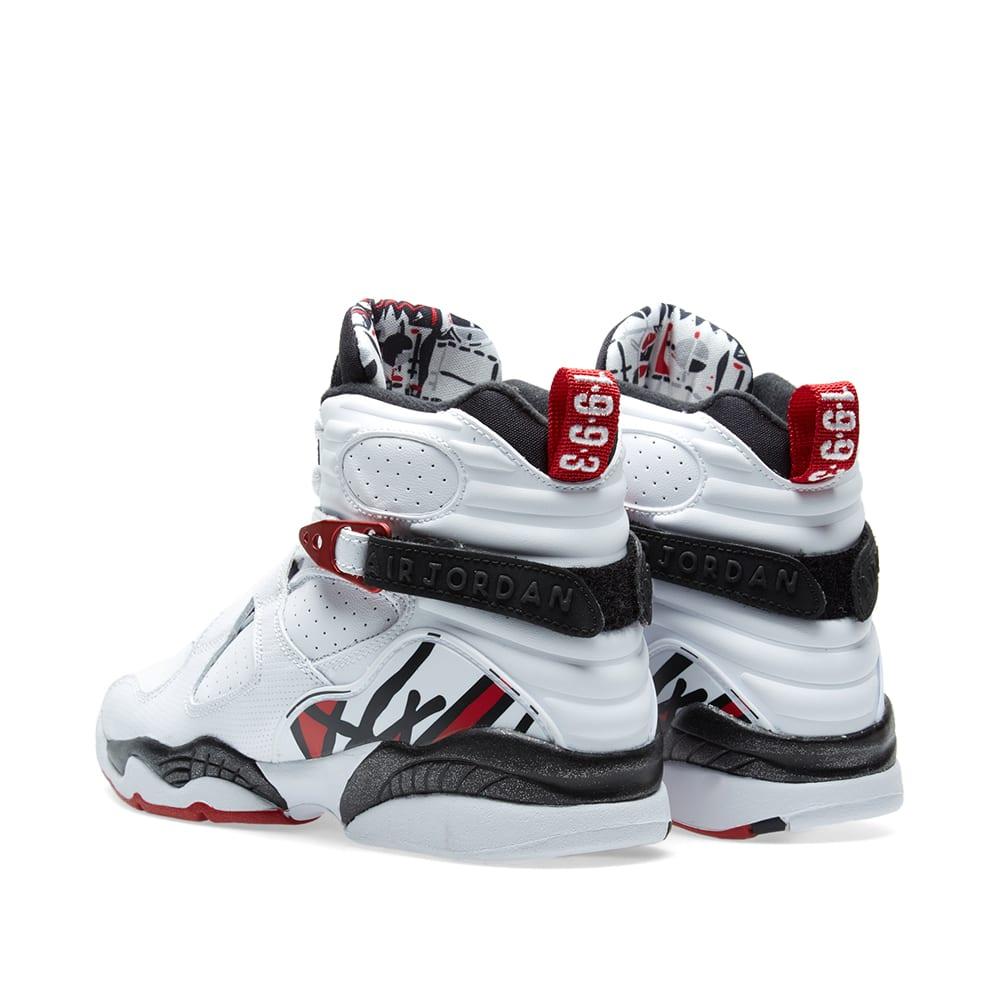 new style d77fc 18752 Nike Air Jordan 8 Retro BG White, Gym Red   Black   END.