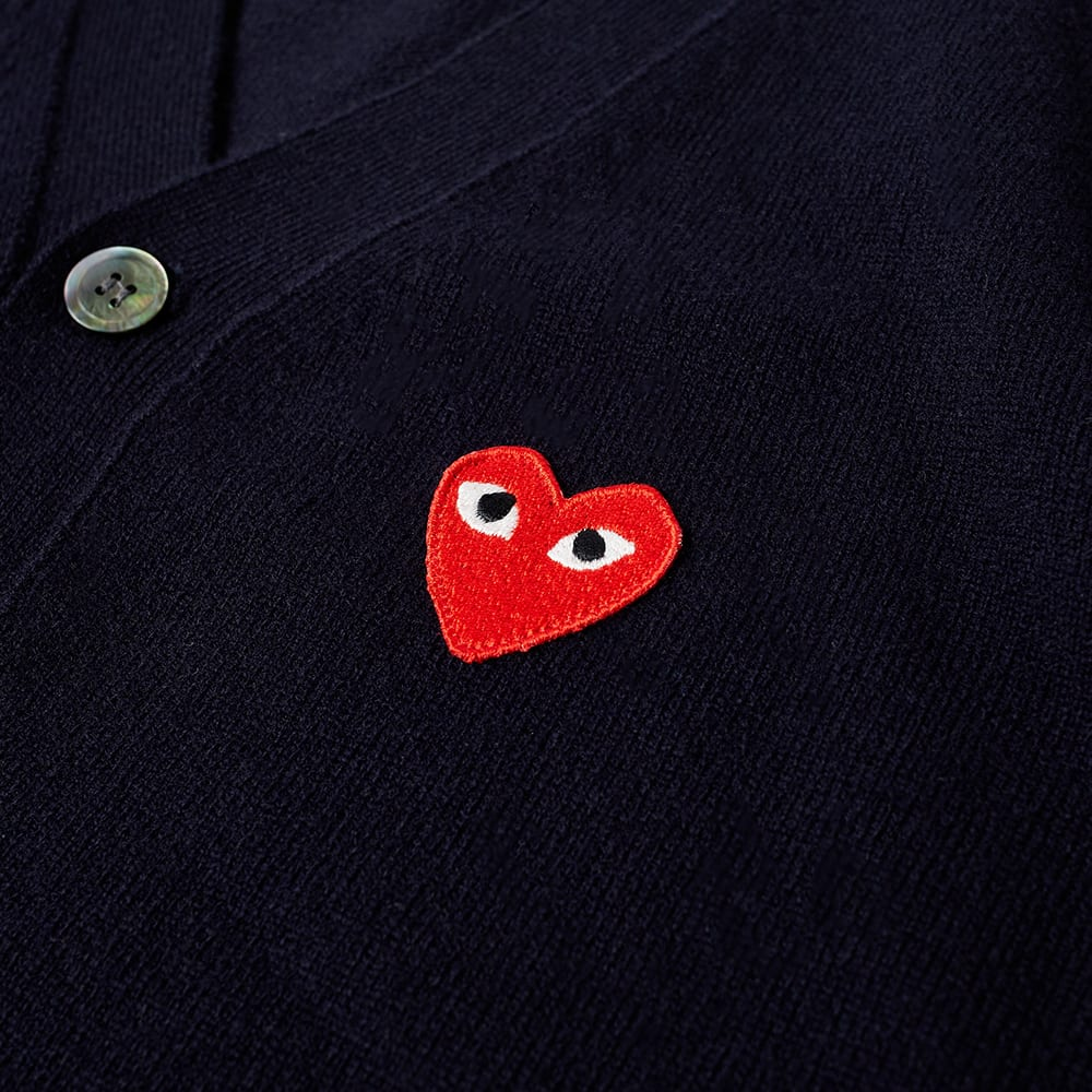 Comme des Garcons Play Red Heart Cardigan