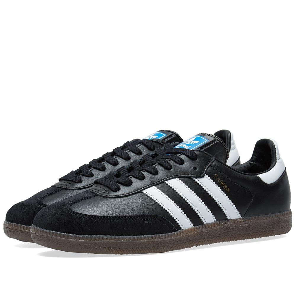 premium selection 9ea78 2a6f9 Adidas Samba OG Core Black, White   Gum   END.