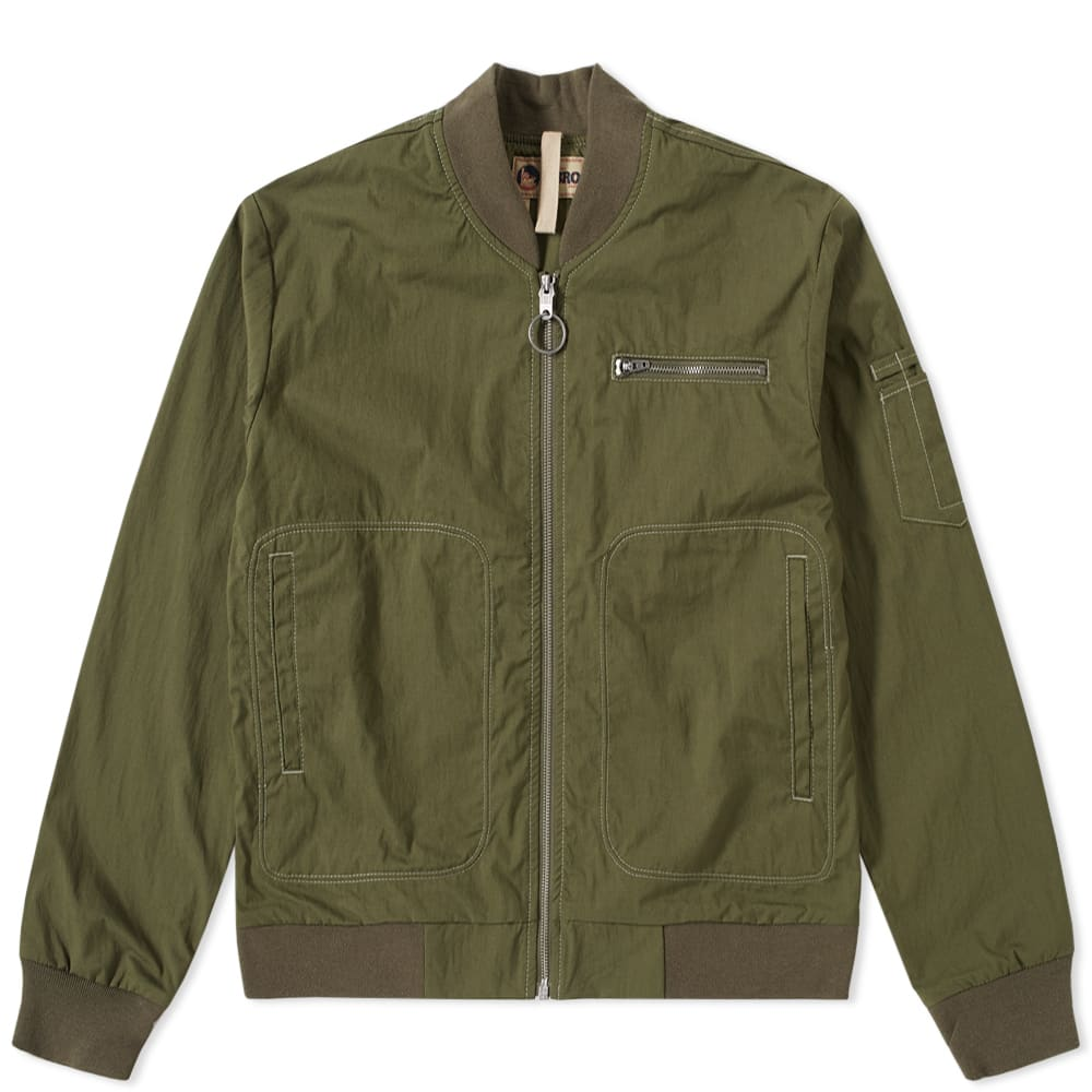 NIGEL CABOURN Nigel Cabourn Lybro Rats Bomber Jacket in Green